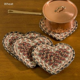 Braided Heart Trivets