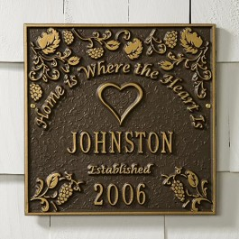 Home Established Plaque
