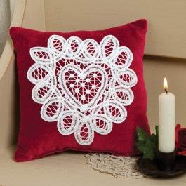 Lace Heart Pillow