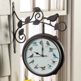 Outdoor Bird Clock & Thermometer