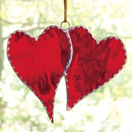 Stained Glass Double Heart