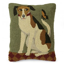 Folk Art Dog Pillow