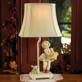 Girl With Rabbit Lamp