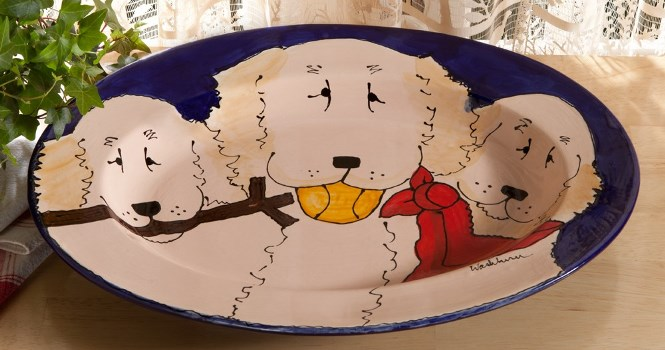 Golden Retriever Oval Platter