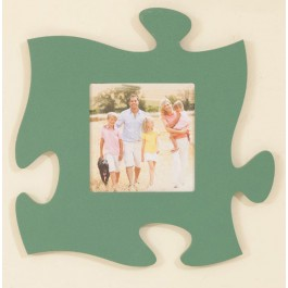Green Puzzle Piece Wall Frame
