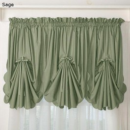 Orleans Curtains Fan Insert Sage