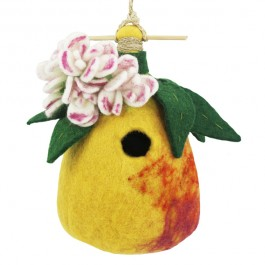 Pear Felted Wool Birdhouse