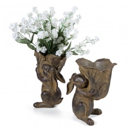 Rabbit Planter Set