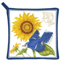 Sunflower & Blue Jay Potholder