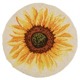 Sunflower Hooked Chair Pad