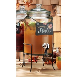 Beverage Dispenser With Chalkboard Label and Stand