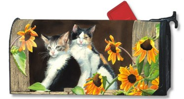 Calico Kitties Mailbox Cover