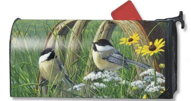 Chickadees Mailbox Cover