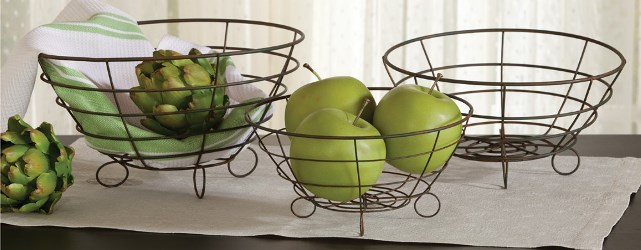 Footed Wire Bowls Set