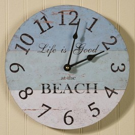 Life is Good Beach Clock