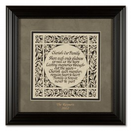 Personalized Cherish Our Family Forever Print