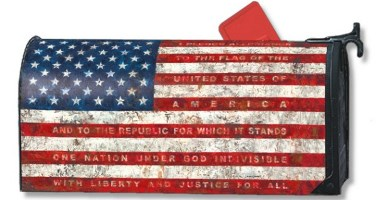 Pledge of Allegience Mailbox Cover