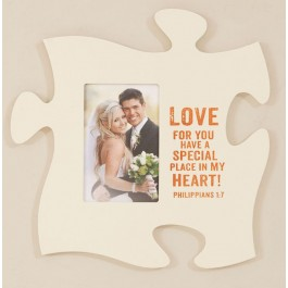 Special Place Photo Puzzle Piece Frame