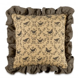 Calico Crow Pillow