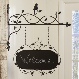 Hanging Metal Oval Sign