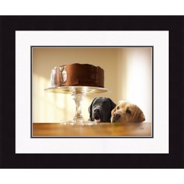 Labs and Chocolate Cake Print