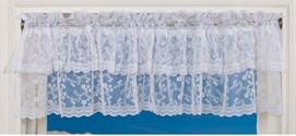 Ruffled Lace Curtains Valance