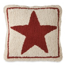 Star Hooked Wool Pillow
