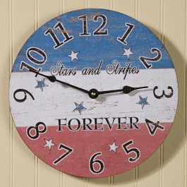 Stars and Stripes Clock