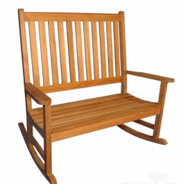 Teak Double Rocking Chair