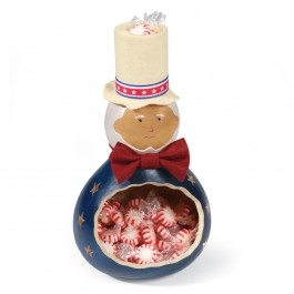 Uncle Sam Gourd Candy Dish