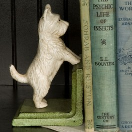 Westie Bookends Detail