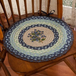 Blueberry Braided Chair Pad