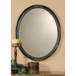Bronzed Oval Wall Mirror