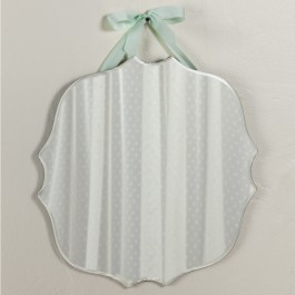 Cottage Beveled Mirror With Ribbon