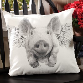 When Pigs Fly Pillow
