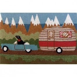 Camping Dog Indoor & Outdoor Rug