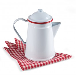 Enamelware Coffee Percolator Red
