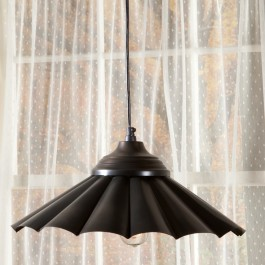 Fluted Metal Pendant Light