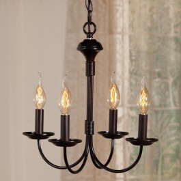 Petite Colonial Four Arm Chandelier