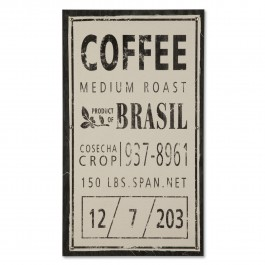 Vintage Coffee Sack Wall Panel