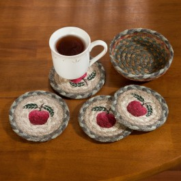 Apple Braided Coaster Set
