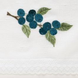 Embroidered Sheer Curtains Blueberries