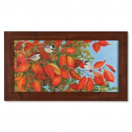 Autumn Chickadees Print