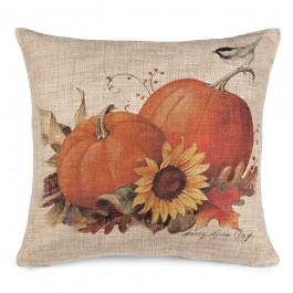 Autumn Harvest Pumpkin Pillow