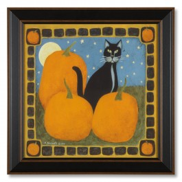 Harvest Cat Framed Print