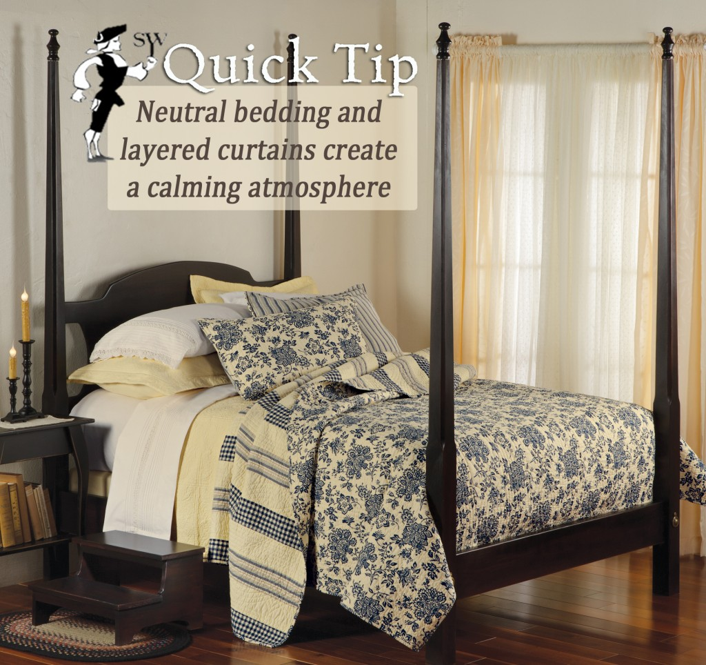 Create calming bedrooms