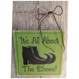 All about the shoes sign