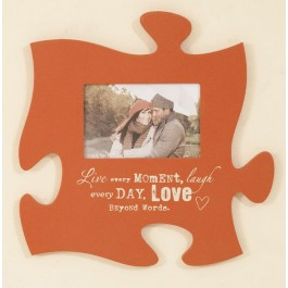 Live Every Moment Puzzle Piece Photo Frame