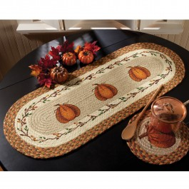 Pumpkin Jute Table Runner