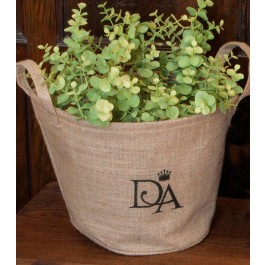 Downton Abbey Round Storage Basket